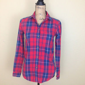 American Eagle Plaid Boyfriend Shirt